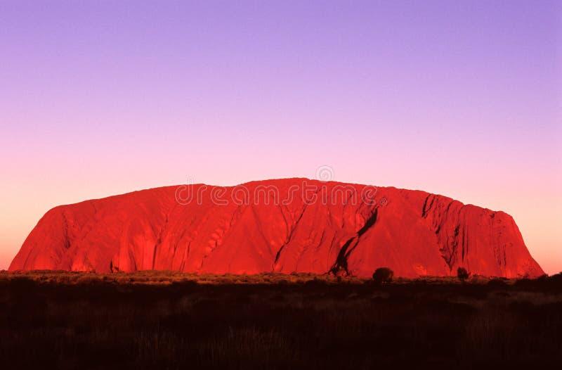Roccia di Ayers, Australia centrale fotografie stock libere da diritti