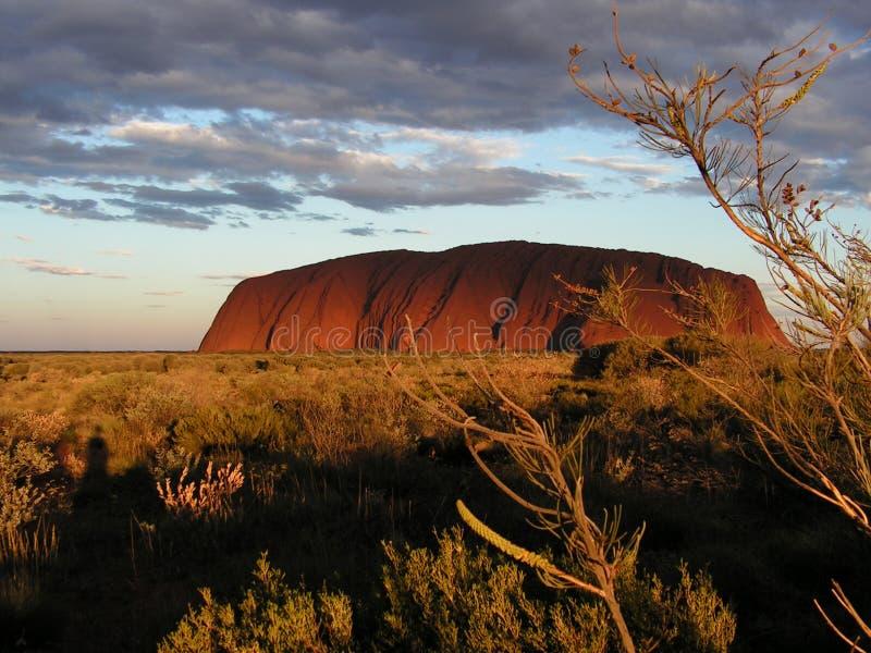 Roccia di Ayers - Uluru immagini stock