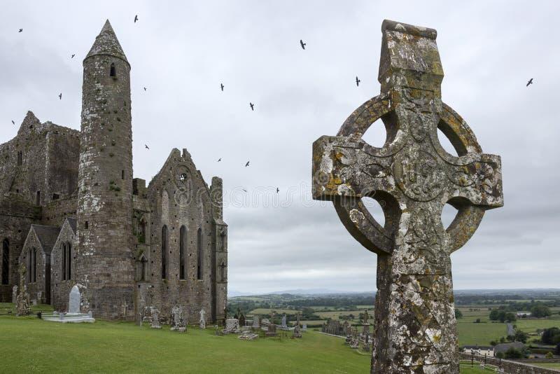 Roccia di Cashel - contea Tipperary - Repubblica Irlandese immagini stock libere da diritti