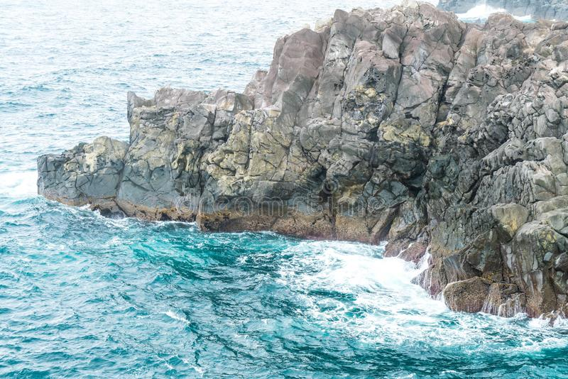 Roccia di Jeju-Do Oedolgae (punto di riferimento naturale famoso) nell'isola di Jeju, immagini stock