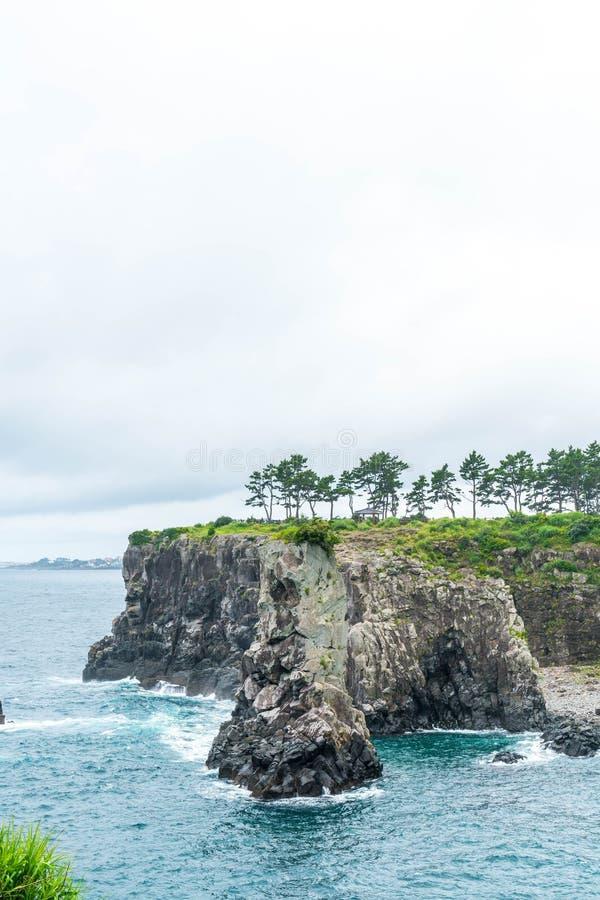 Roccia di Jeju-Do Oedolgae (punto di riferimento naturale famoso) nell'isola di Jeju, immagini stock libere da diritti