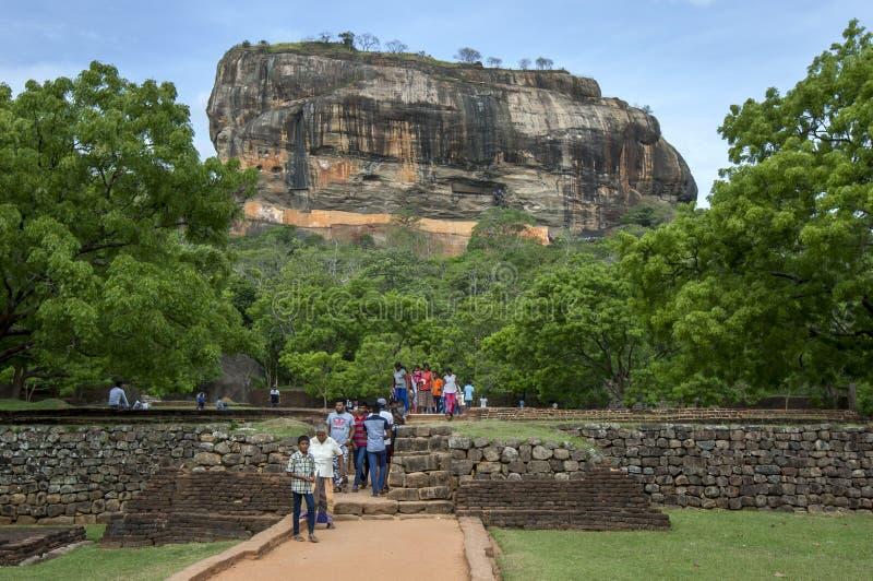 Roccia di Sigiriya in Sri Lanka immagine stock