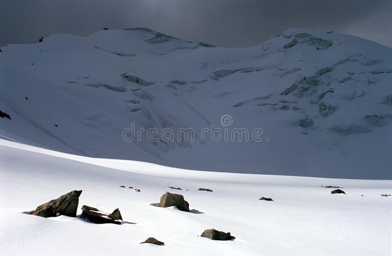 Roccia, montagna, neve, ghiaccio fotografie stock libere da diritti