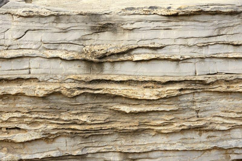 Roccia sedimentaria fotografie stock
