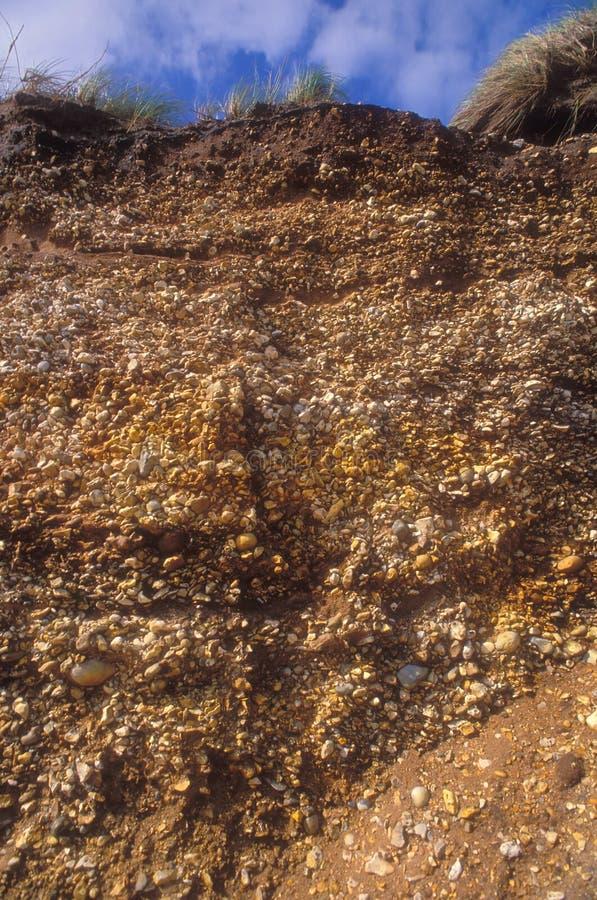 Roccia sedimentaria immagini stock