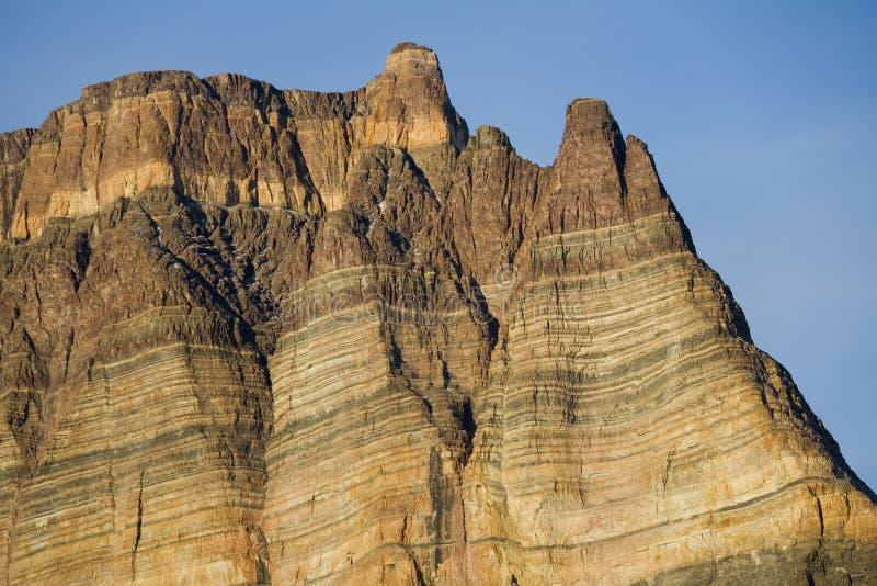 Roccia sedimentaria - Teufelschloss - Groenlandia fotografia stock