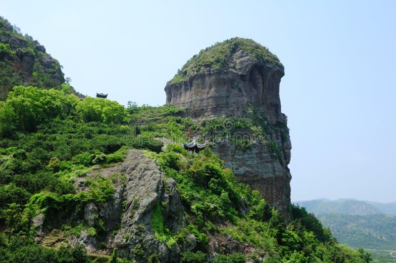 Roccia sedimentaria vulcanica fotografie stock libere da diritti