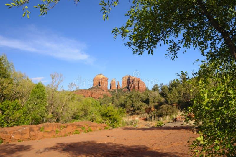 Roccia Sedona Arizona della cattedrale fotografie stock