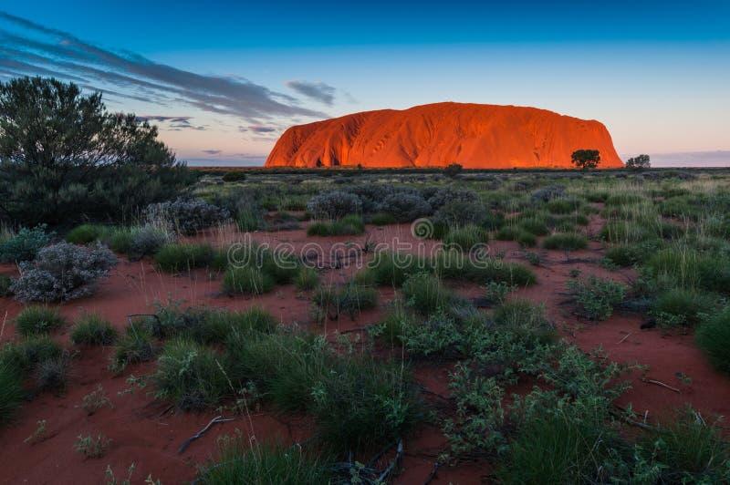 Roccia Uluru di Ayers fotografia stock