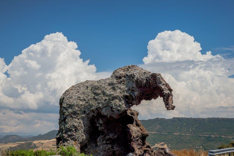 Rocciadell ` elefante royalty-vrije stock afbeelding