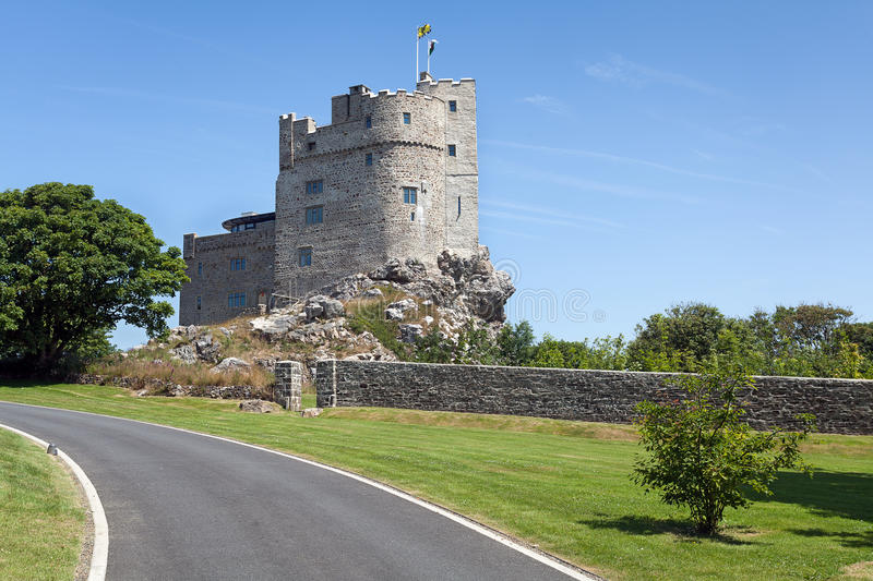 Roch Castle, Wales. Roch Castle is a 12th-century castle in central Pembrokeshire, Wales stock photography