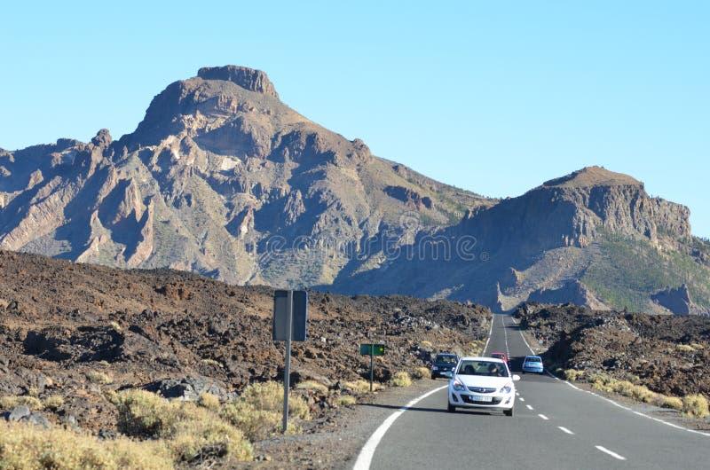 Rocha, céu, Teide fotos de stock royalty free