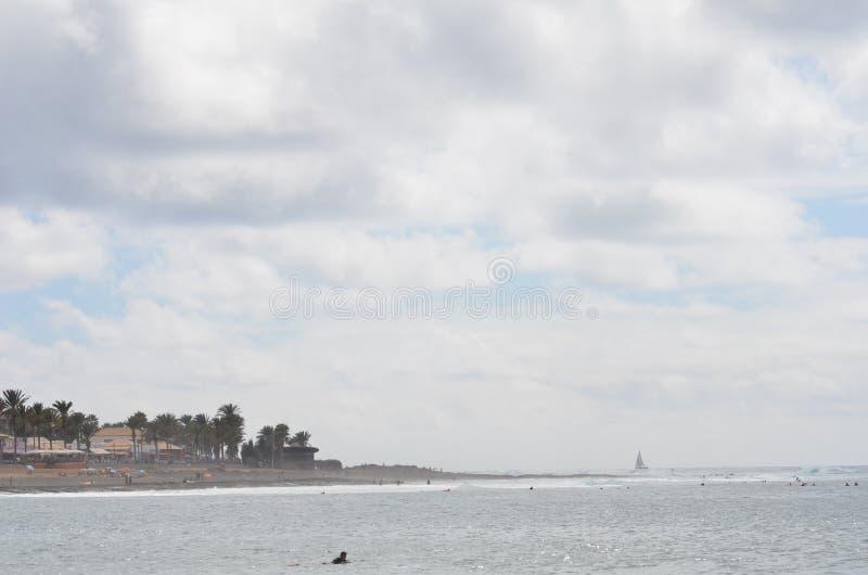 Rocha, céu, Teide, nuvem foto de stock royalty free