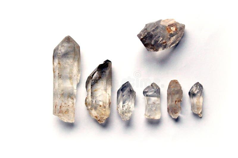 Rocha-cristais crus imagem de stock
