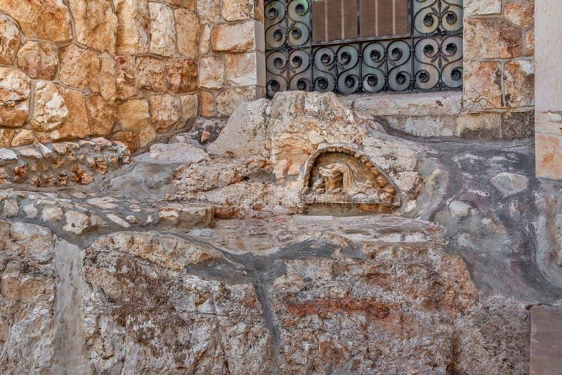 A rocha da agonia no Jerusalém, Israel fotografia de stock