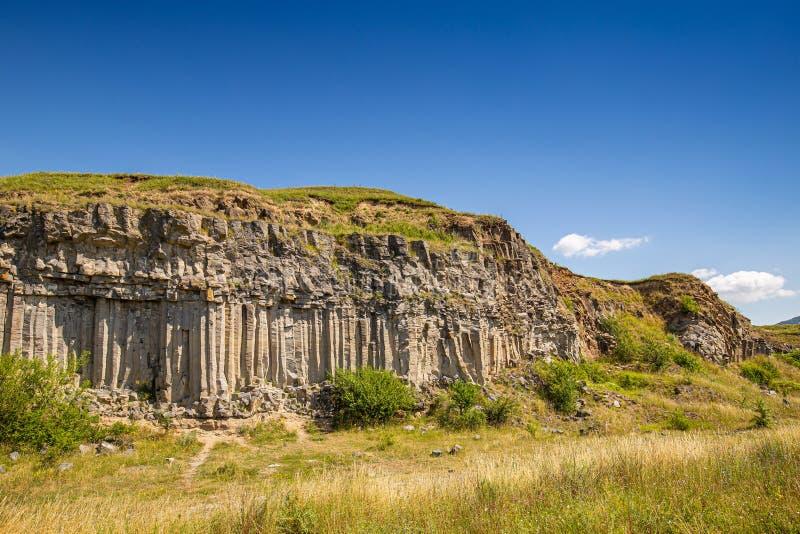 Rocha da coluna do basalto fotos de stock royalty free
