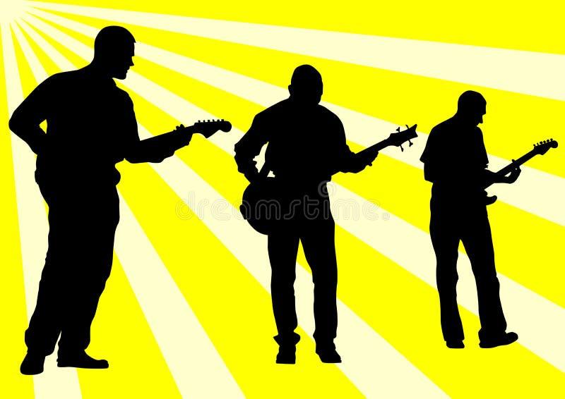 Rocha da guitarra ilustração stock