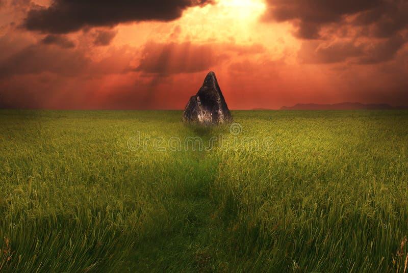 Rocha da pirâmide foto de stock royalty free
