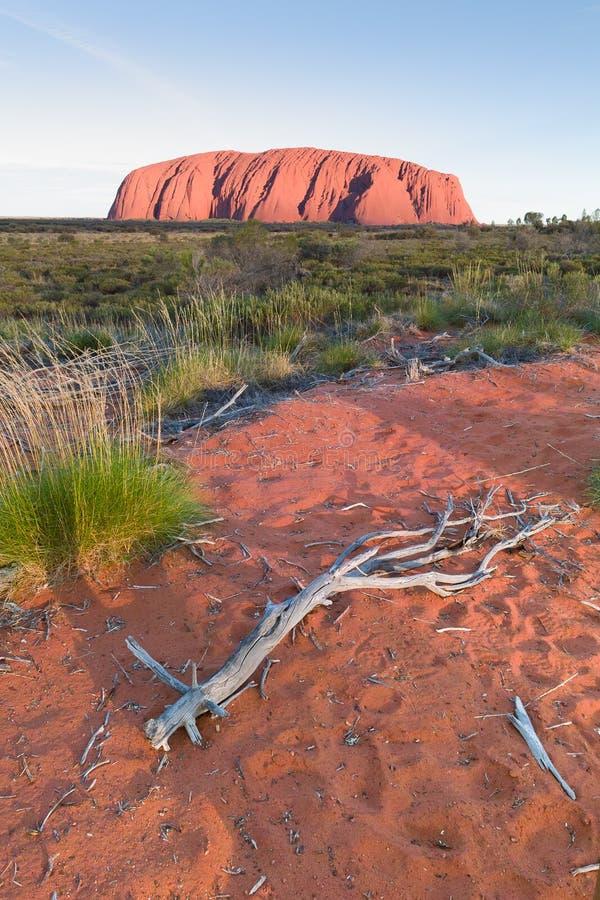 Rocha de Ayers (Uluru) imagens de stock