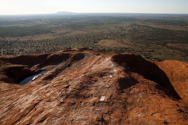 Rocha de Ayers - Uluru - Austrália imagens de stock