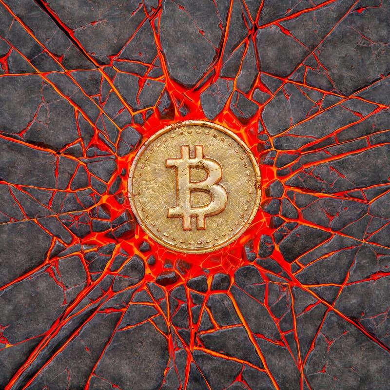 Rocha de Bitcoin ilustração do vetor