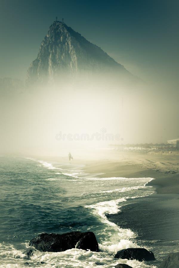A rocha de Gibraltar fotografia de stock