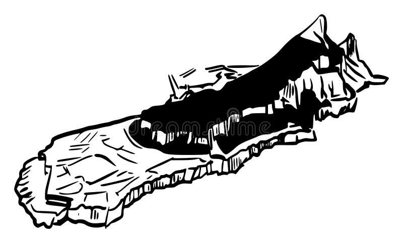 A rocha de Gibraltar do sudeste ilustração royalty free