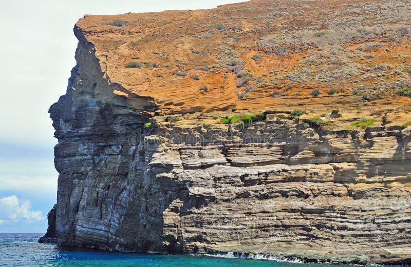 Rocha de Lehua em Havaí imagem de stock