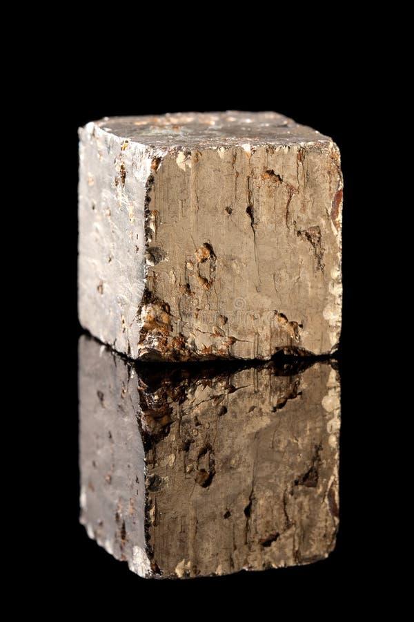 Rocha de mineral da pirite imagens de stock