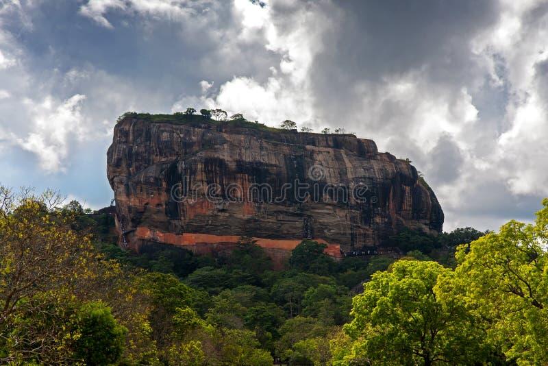 Rocha de Sigiriya fotografia de stock