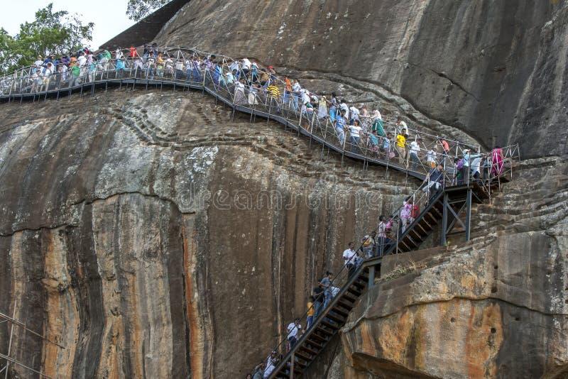Rocha de Sigiriya em Sri Lanka imagens de stock