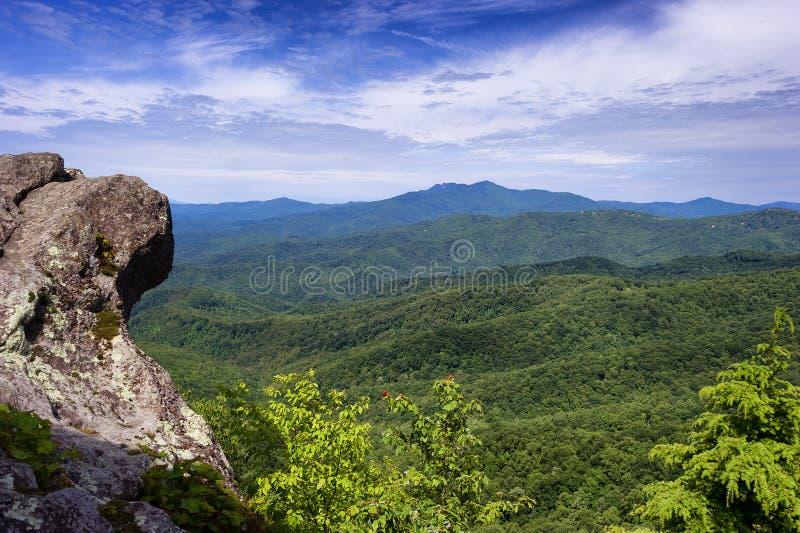Rocha de sopro na rocha de sopro North Carolina imagem de stock