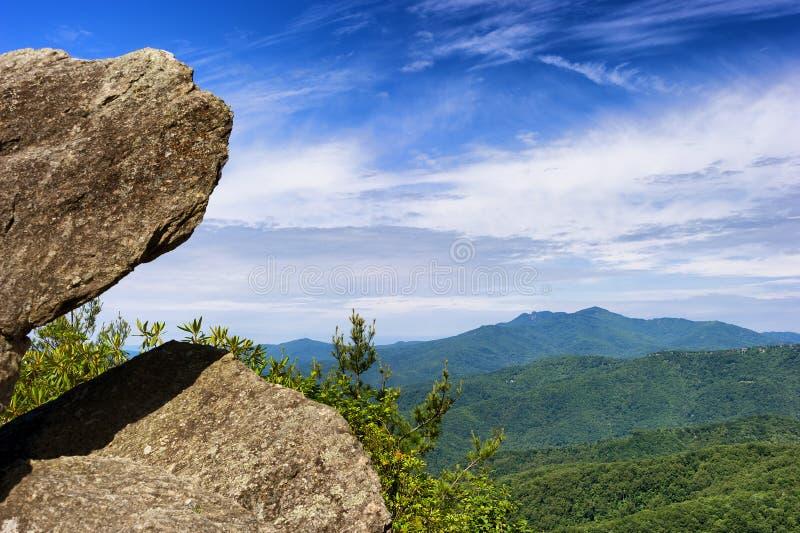 Rocha de sopro na rocha de sopro North Carolina imagem de stock royalty free