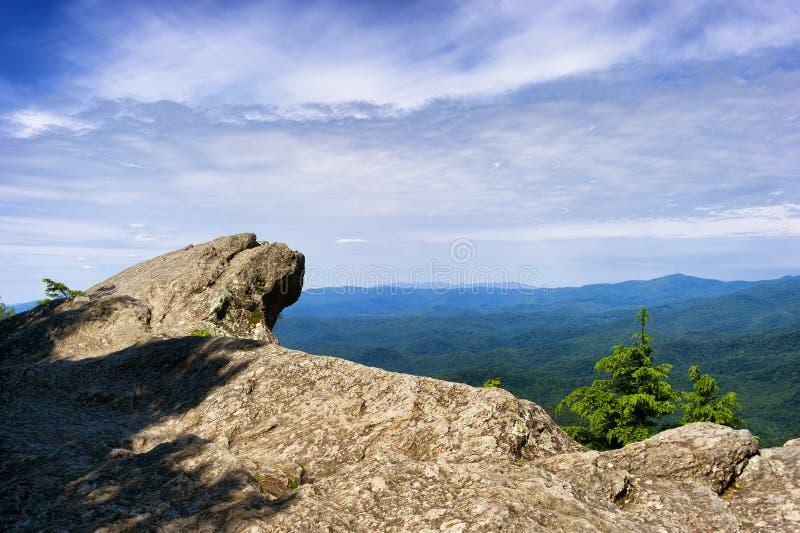 Rocha de sopro na rocha de sopro North Carolina fotos de stock