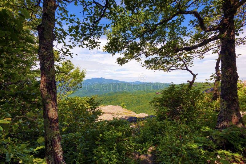 Rocha de sopro na rocha de sopro North Carolina fotografia de stock