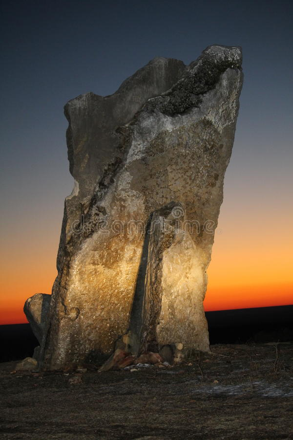 Rocha de Teter, o Condado de Greenwood Kansas imagens de stock royalty free