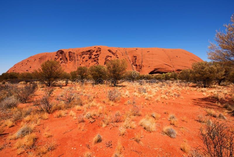 Rocha de Uluru Ayers, Território do Norte, Austrália imagens de stock