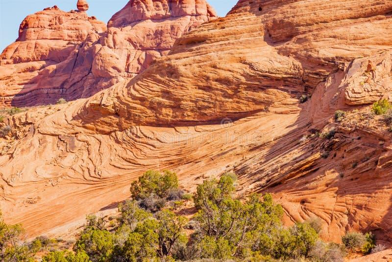 A rocha do arenito mergulha o jardim de Eden Arches National Park Moab U fotos de stock