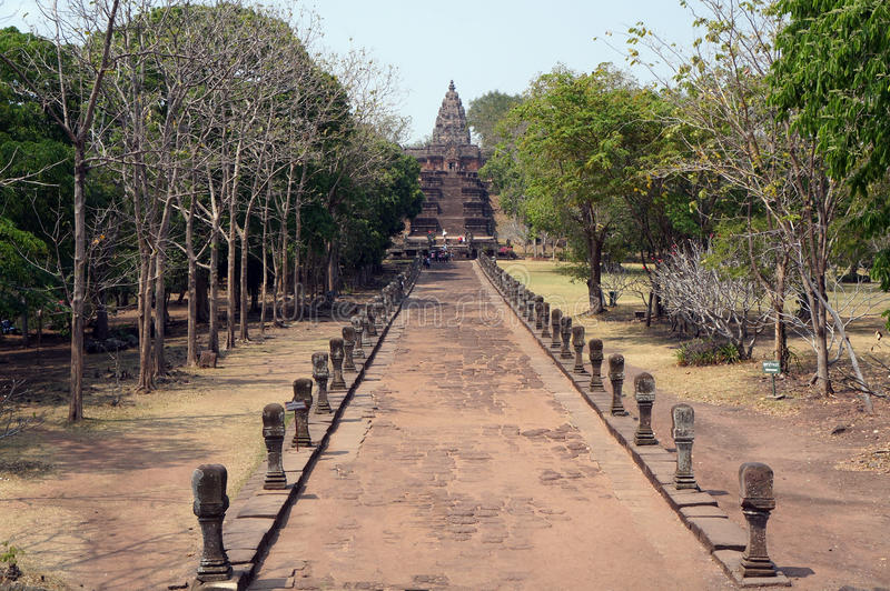 Rocha do castelo do rung de Phanom fotografia de stock royalty free