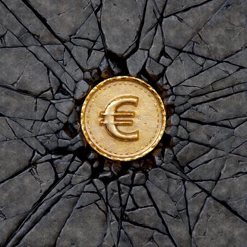 Rocha do Euro ilustração do vetor