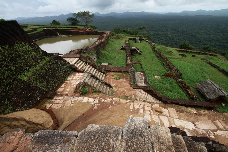 Rocha do leão em Sri Lanka fotografia de stock royalty free