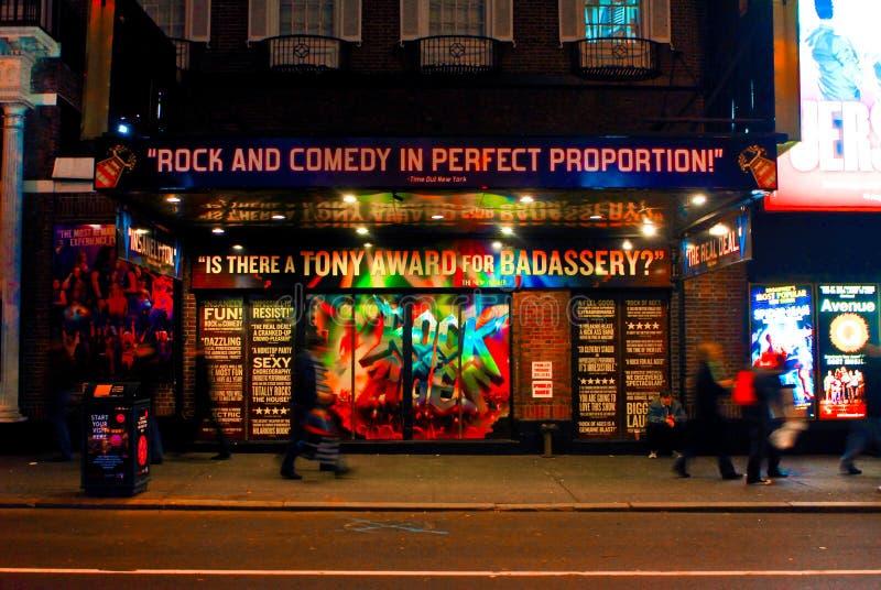 Rocha do Musical de Broadway das idades, Manhattan, NYC imagem de stock royalty free