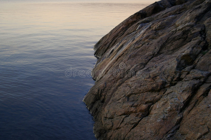 Rocha do oceano imagem de stock