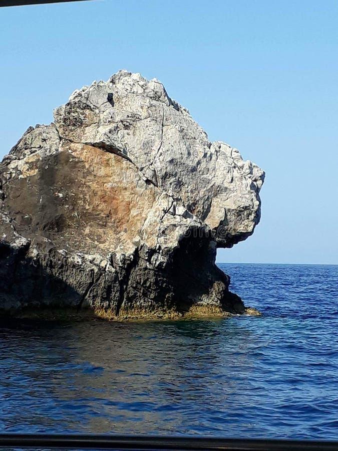 Rocha do verão de Grécia fotos de stock