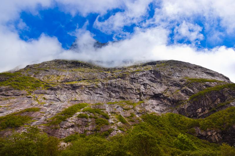 Rocha perto de Trollstigen - Noruega fotografia de stock