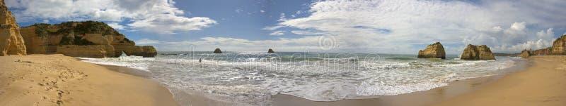 rocha praia Португалии панорамы da стоковая фотография rf