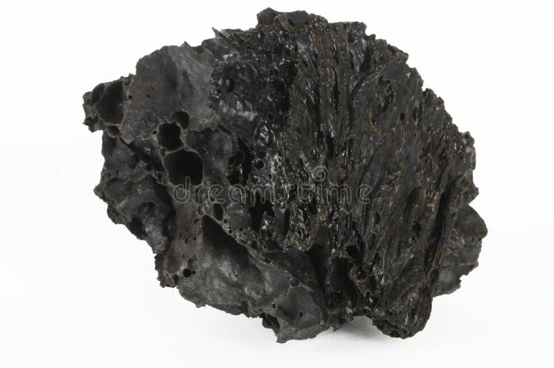 Rocha preta da lava fotografia de stock