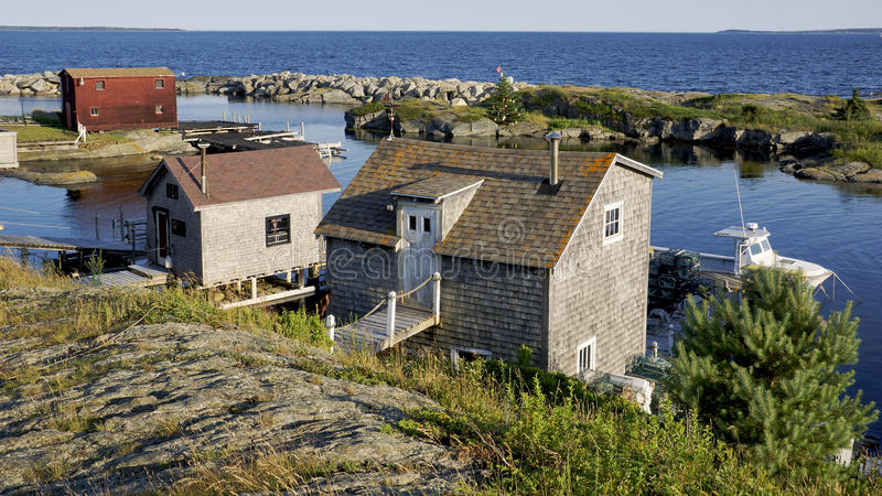 Rochas azuis, Nova Scotia foto de stock royalty free
