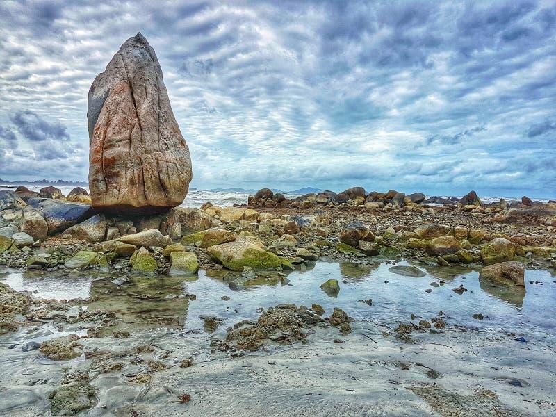 Rochas bonitas, Riau Silip Bangka Indonésia imagens de stock royalty free