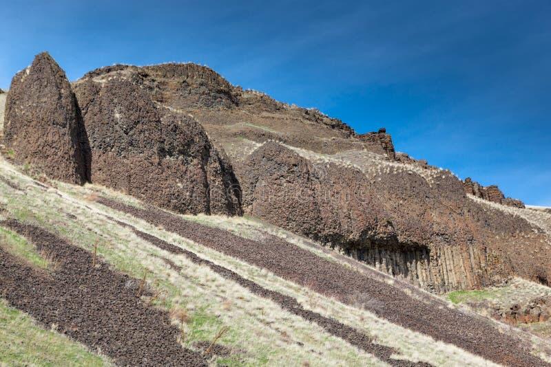 Rochas Columnar do basalto foto de stock royalty free